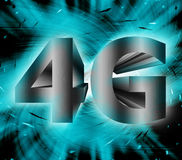 4G network symbol. Abstract of 4G network symbol Royalty Free Stock Photo