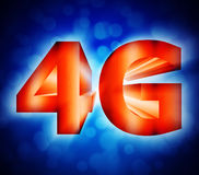 4G network symbol. Abstract of 4G network symbol Stock Images
