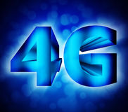 4G network symbol. Abstract of 4G network symbol Royalty Free Stock Image