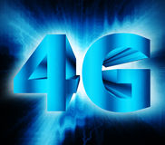 4G network symbol. Abstract of 4G network symbol Stock Photo