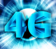4G network symbol. Abstract of 4G network symbol Stock Image