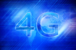 4G Smart phone display. 4g abstract access acronym background cell cellphone cellular communication Stock Photography