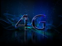 4g smartphone display. 4g smart phone or comunicator display Royalty Free Stock Images