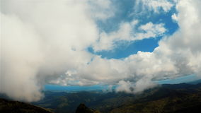 4K Rainforest Cloudy Mountain Peak Time Lapse stock footage