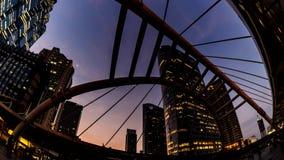 4K Timelapse cityscape Bangkok metropolis. stock video