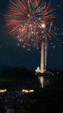 4ème des feux d'artifice de juillet dans le C.C Photos stock