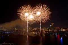 4o de fogos-de-artifício de julho em Boston Imagem de Stock Royalty Free