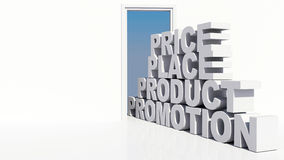 4P Marketing Background Royalty Free Stock Images