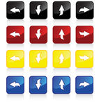 4pack arrows. Set of four directional arrow icons in four proposed colors - also available as EPS file vector illustration