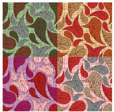4paisley backgrounds. 4 seamless paisley backgrounds in different colors Royalty Free Stock Photography