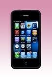 4s苹果apps iphone屏幕smartphone 库存照片