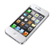 4s苹果iphone白色 免版税库存图片