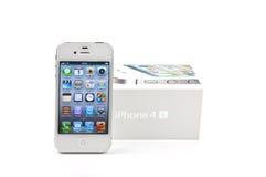 4s配件箱iphone其白色 库存照片