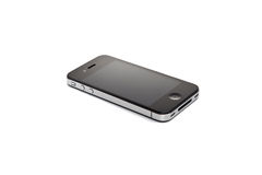 4s λευκό iphone ανασκόπησης μήλων Στοκ εικόνα με δικαίωμα ελεύθερης χρήσης