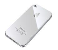 4s πίσω λευκό iphone μήλων Στοκ Εικόνες