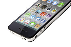 4s το iphone απομόνωσε το λευκό Στοκ εικόνα με δικαίωμα ελεύθερης χρήσης