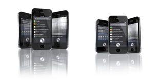 4s app苹果iphone集合siri 库存图片