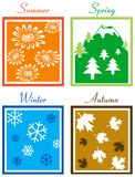 4Season. Four Season - Summer, Spring, Winter and Autumn royalty free illustration
