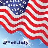 4th amerikanska dagflaggasjälvständighet juli stock illustrationer