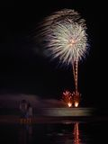 4th av Juli fyrverkerier Royaltyfria Bilder