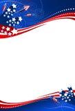 4th bakgrund juli Royaltyfria Bilder