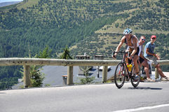 4th för edf-huez för alpe D triathlon Royaltyfri Fotografi