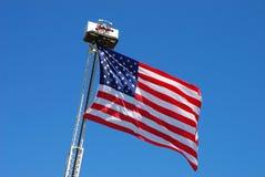 4th flagga juli Royaltyfri Fotografi
