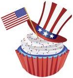 4th illustration juli för muffinflaggahatt royaltyfri illustrationer