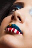 4th juli americanskönhet Fotografering för Bildbyråer