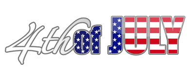 4th of July. Fourth of July designs. vector file available Stock Images