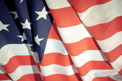 4th july. Wavy American flag.  4th july concept background Stock Photos