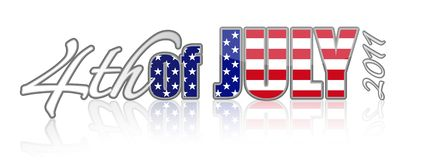4th of july. 2011 sign isolated over a white background vector illustration