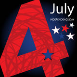 4th July. American Independence Day design Royalty Free Stock Image
