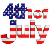 4th. Of July. Illustration. Front view Royalty Free Stock Photo