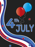 4th july. Illustration for party 4th july Royalty Free Stock Photos
