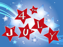 4th july. Illustration for party 4th july Stock Photography