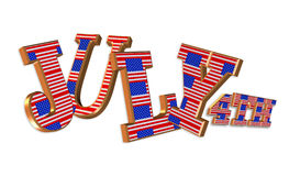 4th of July 3D text Stock Photography