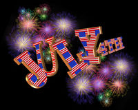4th of July 3D text royalty free stock images