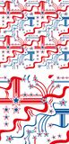 4th of July. Wallpaper, tile, background stock illustration