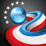 4th of july american independence day. Stylish vector 4th of july american independence day Stock Images