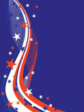 4th july background. Illustration of stars and stripes on a blue background royalty free illustration