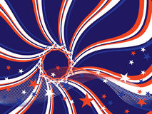 4th july background. Illustration of stars and stripes on a blue background Stock Photo