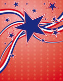 4th of July background. With blue and red stars Royalty Free Stock Images
