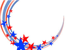 4th july background. Illustration of stars and stripes on a white background Royalty Free Stock Photography