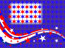 4th july background. Illustration of stars and stripes on a blue background Royalty Free Stock Photos