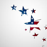 4th of July Background. Vector Illustration of a 4th of July Background Stock Photo