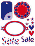 4th of July background sale graphics Royalty Free Stock Photos