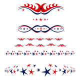 4th of July borders royalty free stock photography