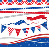4th of July Borders and Elements. Illustration of 4th of July borders and graphic elements Stock Photography