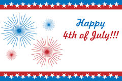 4th of July card Stock Photography